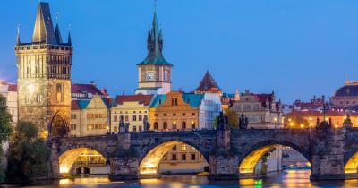 Prag - Blick auf die Karlsbrücke