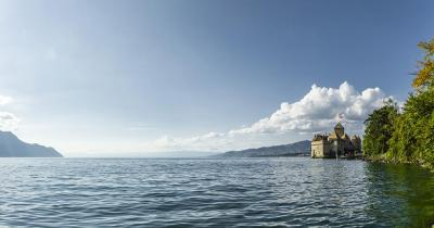 Genfersee / Genfersee mit Schloss Chillon