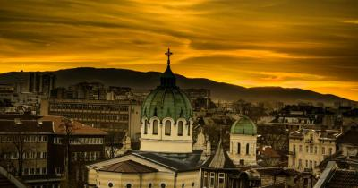 Sofia - Blick auf den Tempel St. Cyril und Methodius