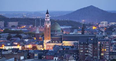 Charleroi / Panoramaaufnahme von Charleroi
