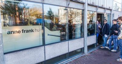 Anne Frank Haus / der Eingang vom Anne Frank Haus