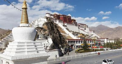 Lhasa  - Potala palace in Tibet, Lhasa