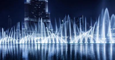 Wasserspiele von Dubai - tanzende Fontainen