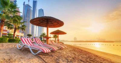 Abu Dhabi - View of the beach and the sea