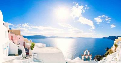 Mykonos - View of the beautiful sea
