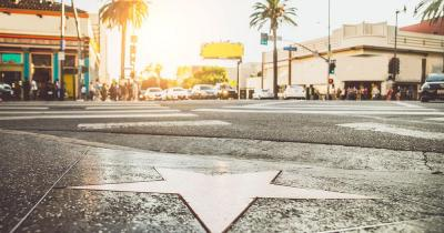 California - A star on the Walk of Fame in Hollywood