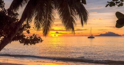 Bahamas - View to the sea in the evening
