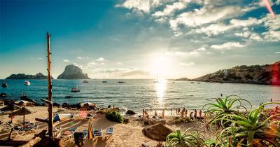 Ibiza - Blick vom wunderschönen Strand