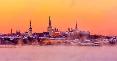Tallinn - Blick auf Tallinn von der baltischen See