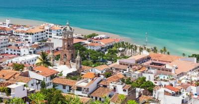 Puerto Vallarta - the panoramic view of city and coast