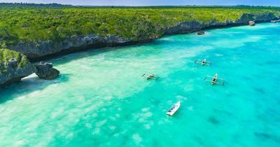 Zanzibar - coast with crystal clear water