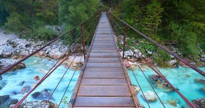 Julian Alps - Bridge over the Soca