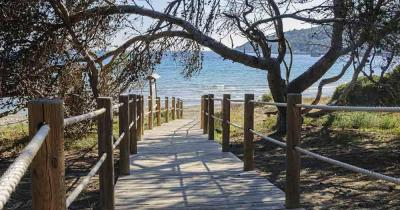 Ibiza - Way to the beach of Ses Salines