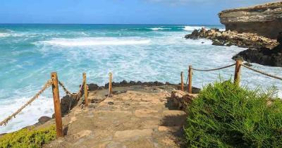 Fuerteventura - Die Steintreppen an den Strand