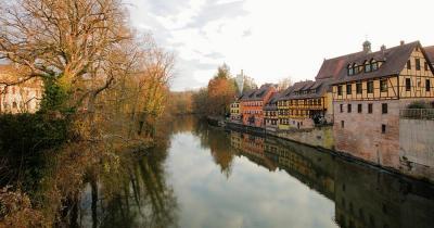 Stein - Die Stadt im Grünen - Wassergasse Stein Sicht von Brücke