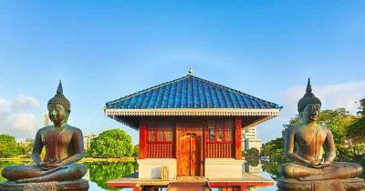 Sri Lanka - Blick auf dem Tempel