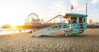 Kalifornien - Baywatch am Santa Monica Pier von Los Angeles