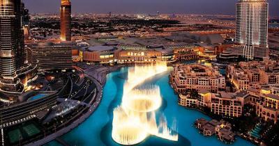 Wasserspiele von Dubai - Blick von oben