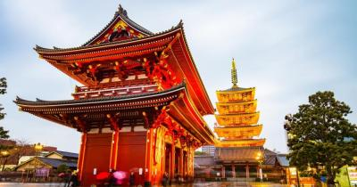 Tokio - Blick auf den Senso-ji Temple