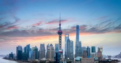 Shanghai - Blick auf die Gebäude