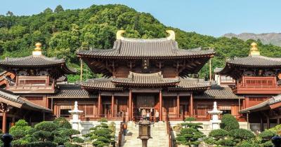 Hong Kong - Blick auf die Chi Lin Nunnery