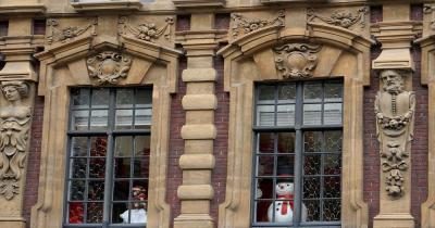 Weihnachtsmarkt Lille - Fensterdekoration zu Weihnachten