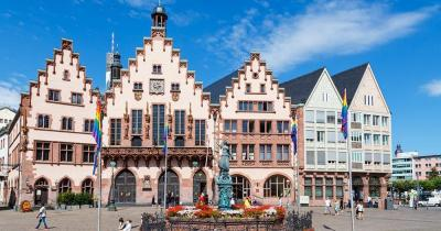 Frankfurt - Mittig der Gerechtigkeitsbrunnen