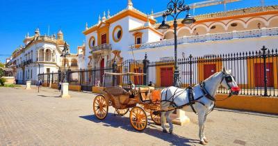 Sevilla - Pferdekutsche vor der Arena