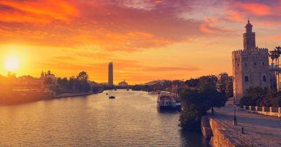 Sevilla - torre del Oro in Sevilla