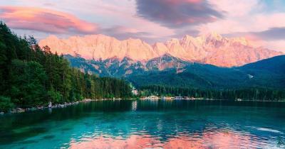 Den Herbst am Eibsee und Region erkunden - Sonnenuntergang