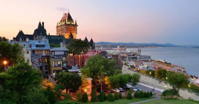 Quebec - Blick von Quebec aufs Meer