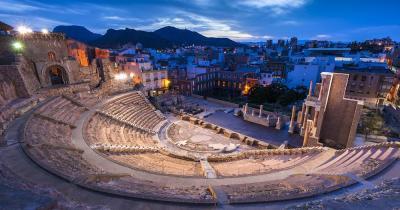 Cartagena - Römisches Theater am Abend