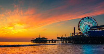 Santa Monica - Pier am Abend