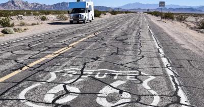 Route 66 - verwittertes Zeichen