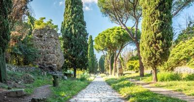 Via Appia Antica - von Bäumen gesäumt