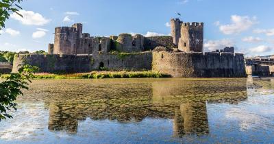 Cardiff Castle - Wassergraben