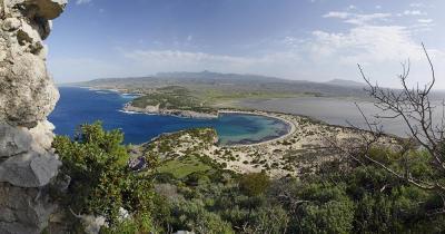 Peloponnes - Blick auf die Westküste