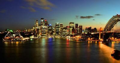 Opernhaus Sydney - Hafen bei Nacht