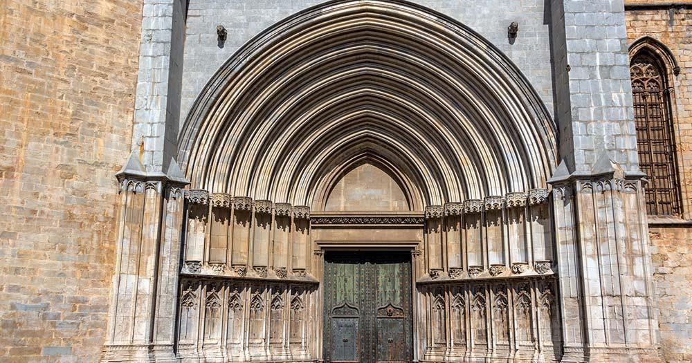 Girona - Portal der Kathedrale Santa Maria