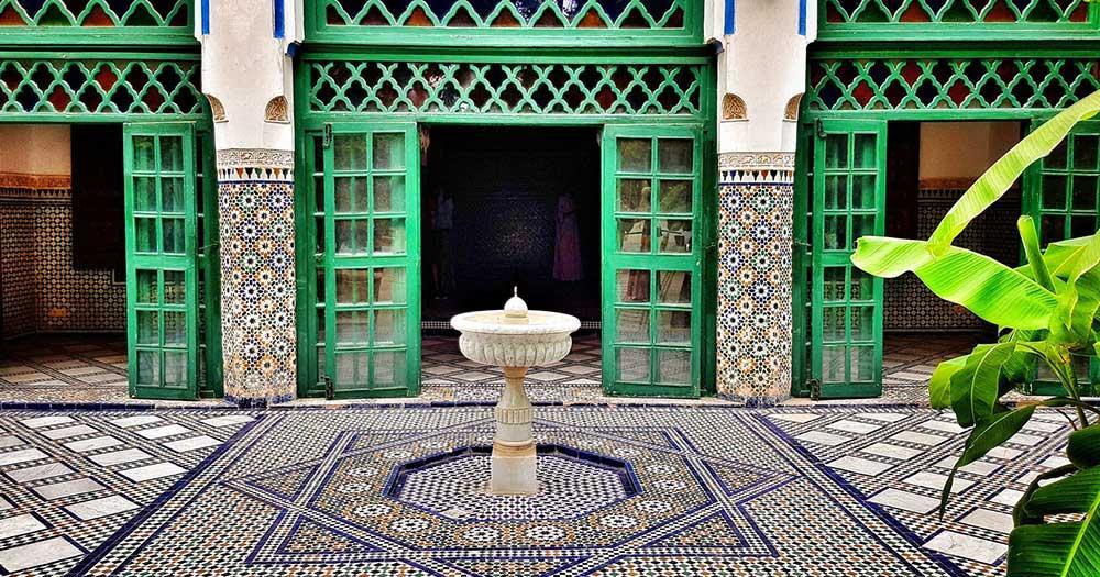 Casablanca - typischer Innenhof