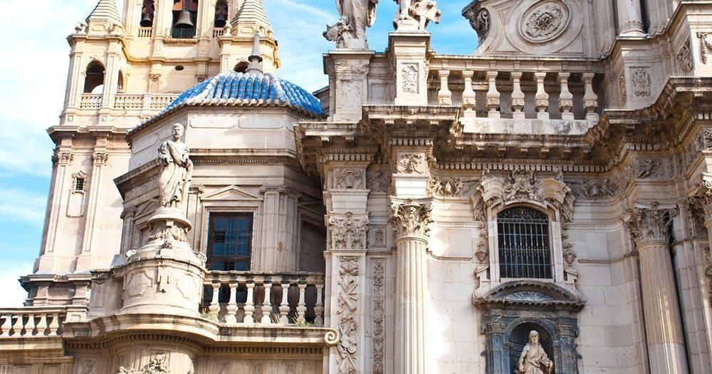 Murcia - Aussenwand Kathedrale