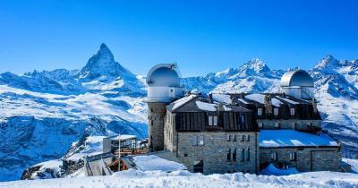 Matterhorn - Bergstation mit Matterhorn im Hintergrund