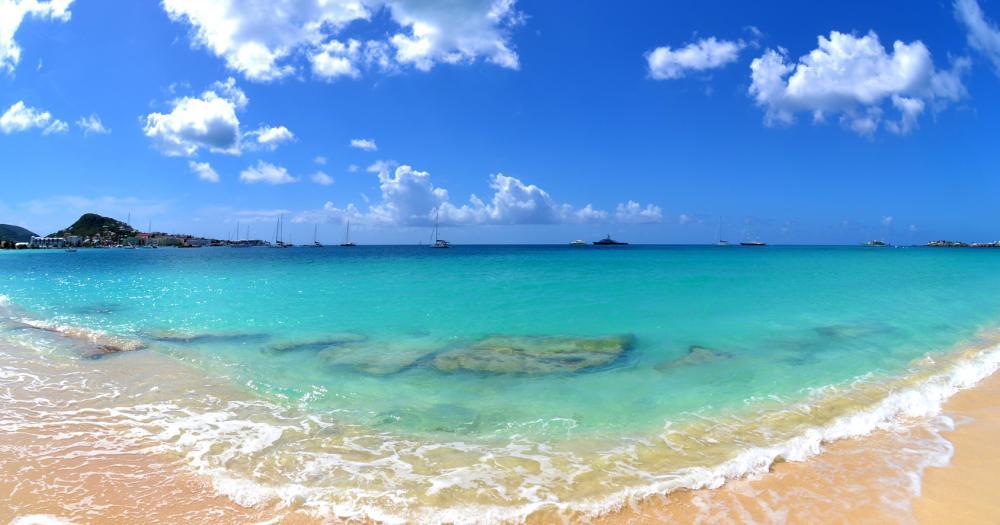 St. Martin - Blick auf den Strand