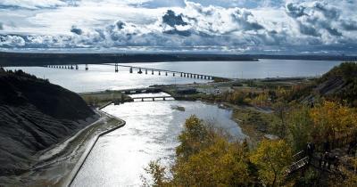 Montmorency-Fall - Blick auf die Brücke