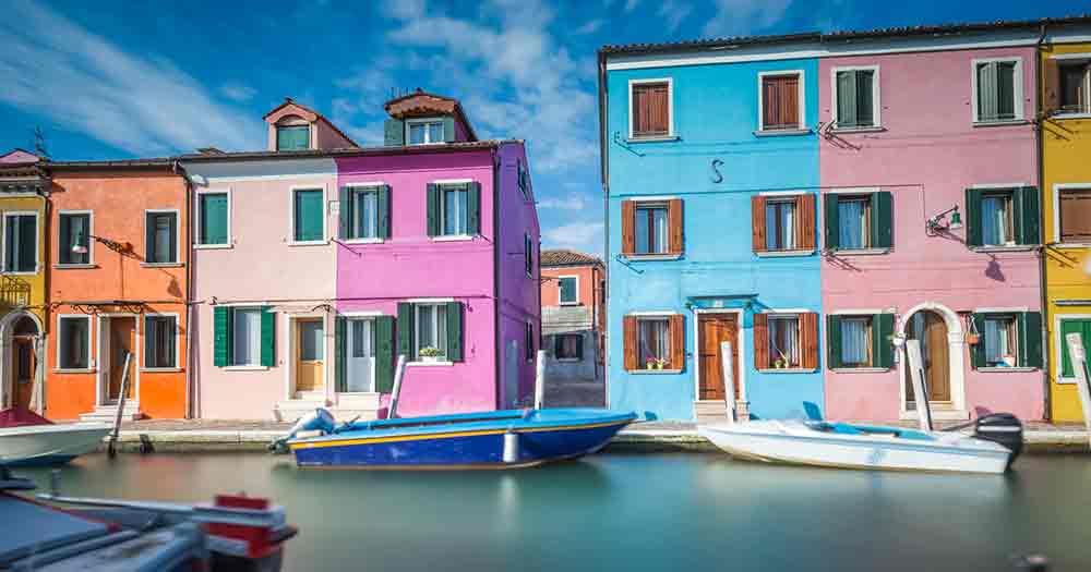 Venedig - Bunte Häuser in Venedig