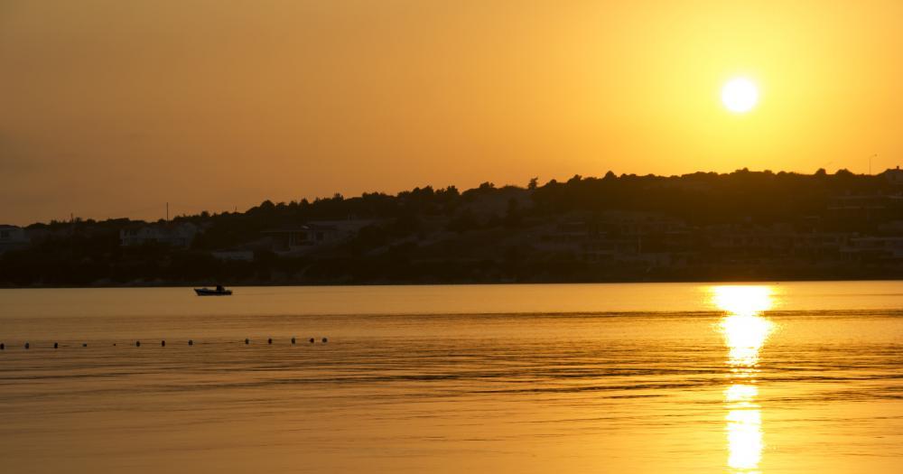 Cesme - Blick auf die Stadt bei Sonnenuntergang