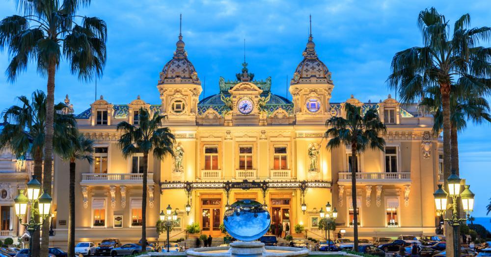 Monte-Carlo - Blick auf das Casino von Monte-Carlo