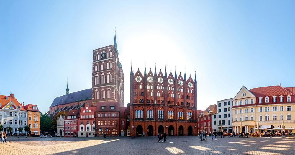 Stralsund - Panorama vom Marktplatz