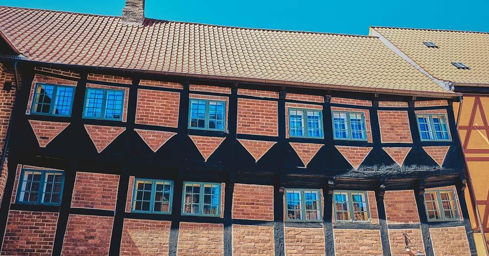 Odense - alte Häuserfront