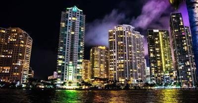 Bayfront Park - nächtliche Panoramaaufnahme